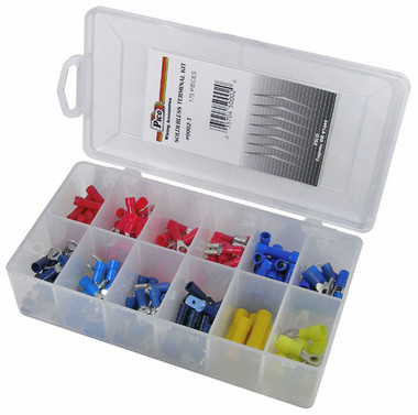 175 Piece Assorted Solderless Electrical Terminal Kit