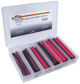 54 Piece Assorted Single Wall Shrink Tube Kit Red and Black