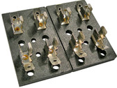 4 Gang Glass Fuse Block 30 Amp Fuses AGC SFE