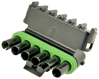 WeatherPack 6 Cavity Male Tower Connector