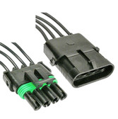 Weatherpack 4 Way Male Female Connector Set