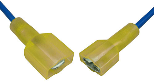 50 Yellow Piggyback Electrical Quick Disconnect Terminals Male//Female 12-10 AWG