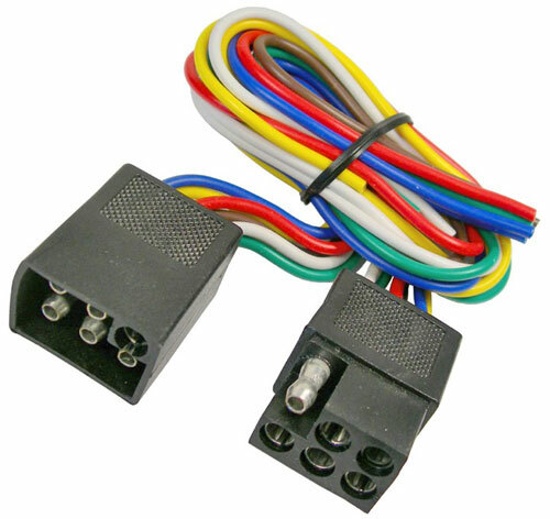 Trailer Connector Hook Up 4-Way Flat Shrouded Moisture Proof