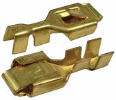 Pack of 100 Brass Tab Lock Terminals