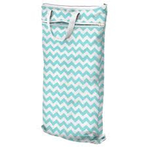 Teal Chevron - Planet Wise Hanging Wet Bag