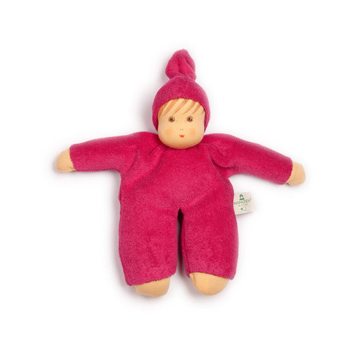 Organic Terry Baby Doll - Berry