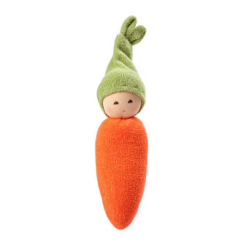 Nanchen Organic Terry Baby Rattle - Carrot