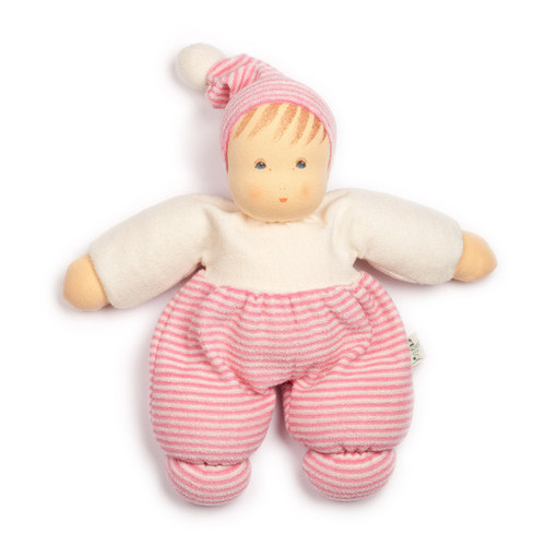 Nanchen Terry Cuddle Doll - Pink Striped