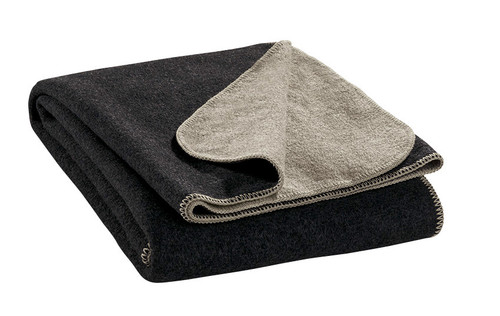 Disana Double-Sided Wool Blanket - Anthracite/Grey
