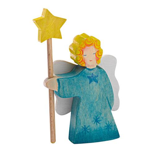 Ostheimer Small Wooden Angel - Blue