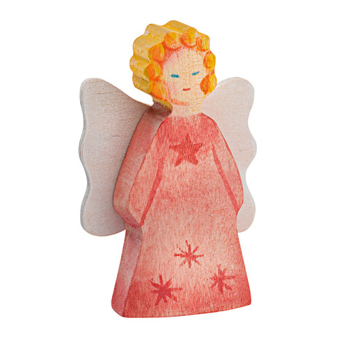 Ostheimer Small Wooden Angel - Red