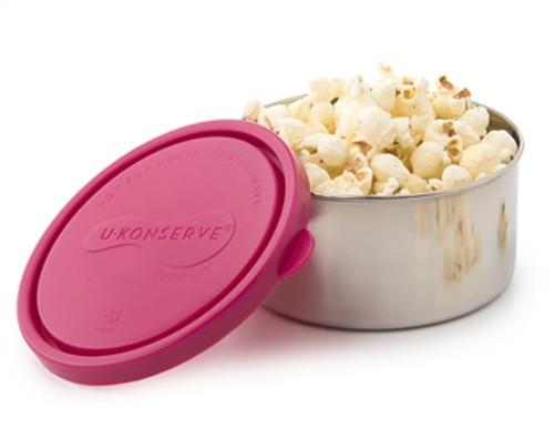Kids Konserve Round Food Container 16 oz - Magenta