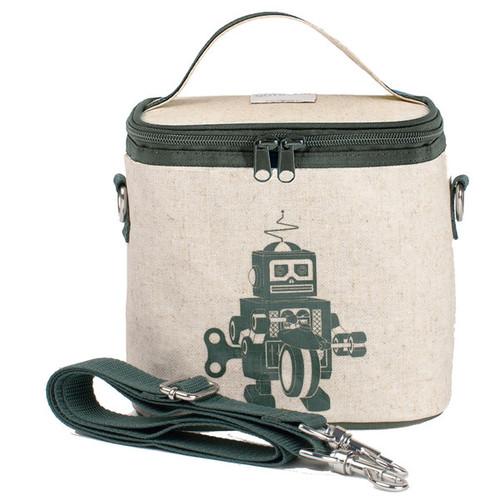 So Young Raw Linen Cooler Bag - Grey Robot