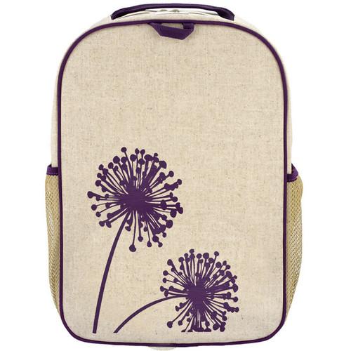 So Young Raw Linen Grade School Backpack - Dandelion
