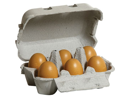 Erzi Wooden Brown Eggs