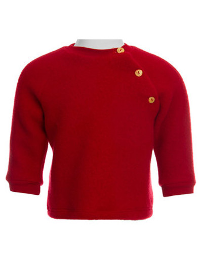 Engel Merino Wool Raglan Sweater - Red
