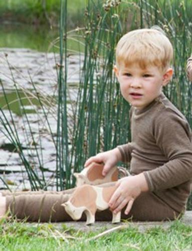 Engel Merino Wool Kids Leggings - Walnut