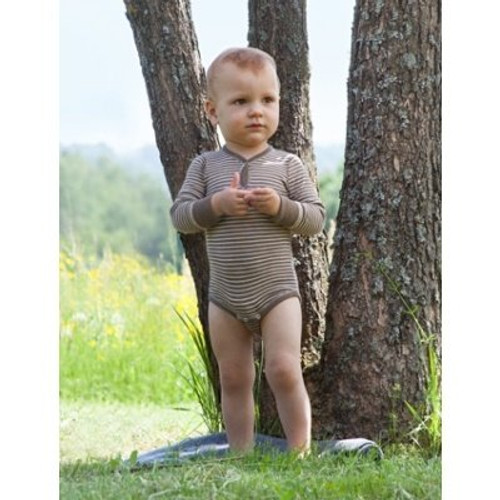 Engel Baby Body Merino Wool/Silk - Walnut/Natural