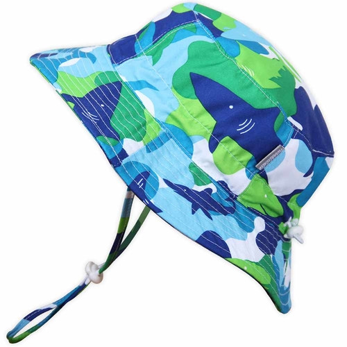 AquaDry Bucket Hat - Blue Shark