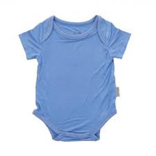 Silkberry Bamboo Onesie - Shark Blue
