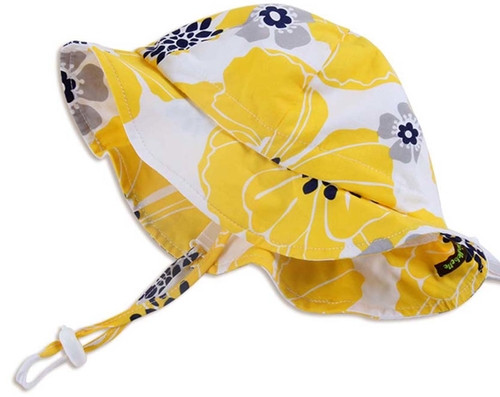 Twinklebelle Cotton Sun Hat - Yellow Flower