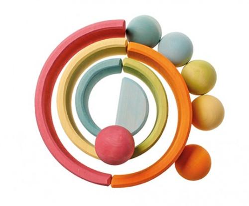 Grimm's 6 Wooden Balls - Pastel
