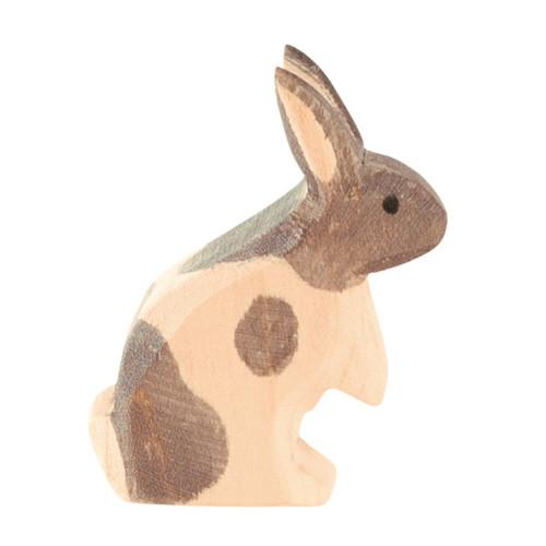 Ostheimer Wooden Rabbit Black & White Standing