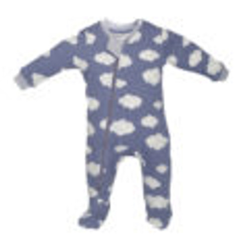 Zippyjamz Organic Cotton Pajamas - Clouds Blue