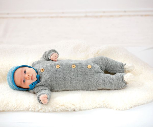 Disana Knitted Overall - Grey