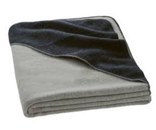 Disana Large Hooded Boiled Wool Blanket - Grey/Anthracite