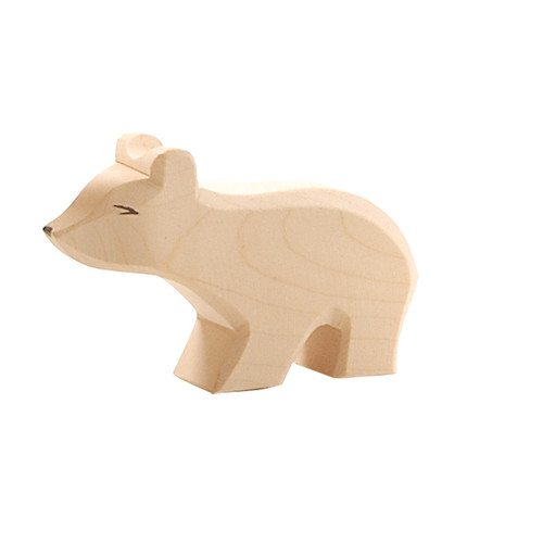 Ostheimer Wooden Polar Bear Small w/ Long Neck