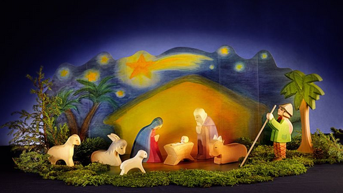Ostheimer Nativity Set with Diorama
