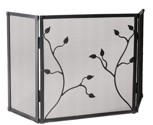 Eden Isle Fire Screen Triple Panel Stone County Ironworks