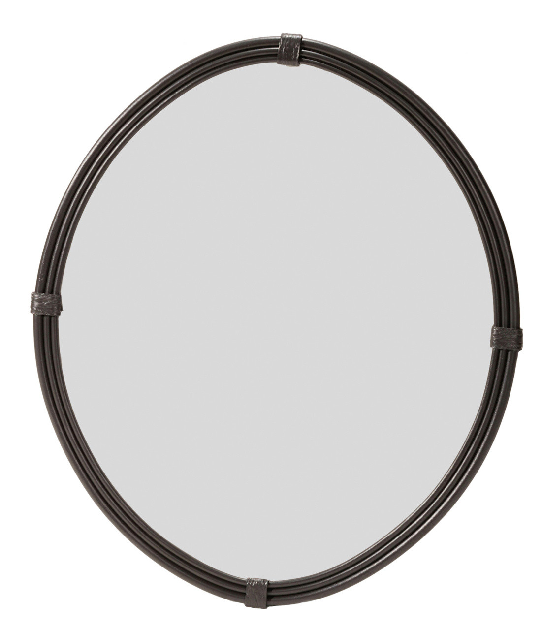 Queensbury Oval Hand Forged Iron Wall Mirror Small