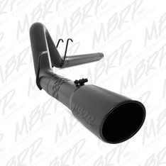 "S6242BLK - MBRP 4"" EXHAUST 08-10 FORD POWERSTROKE DIESEL F250 F350 6.4L FILTER BACK BLACK"
