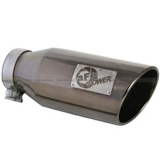 "AFE 15"" BLACK CHROME STAINLESS EXHAUST TIP 4"" TO 6"" - 49-92018-BC"