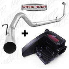 "S6200PLM  75-5062 - MBRP 4"" EXHAUST w S&B INTAKE  99-03 FORD POWERSTROKE DIESEL 7.3L STRAIGHT PIPE"