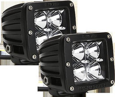 20212 - RIGID INDUSTRIES D-SERIES DUALLY HYBRID 20 DEGREE FLOOD AMBER LED LIGHT SET OF 2