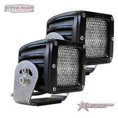 22251 - RIGID INDUSTRIES D-SERIES DUALLY HD HYBRID DIFFUSED LED LIGHT PAIR BLACK 22251