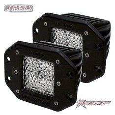 21251 - RIGID INDUSTRIES D-SERIES DUALLY HYBRID DIFFUSED LED LIGHT PAIR BLACK
