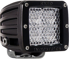 201513 - RIGID INDUSTRIES D-SERIES DUALLY HYBRID DIFFUSED LED LIGHT SINGLE BLACK - 20151