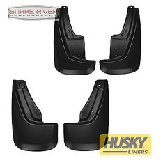 59001 58001 - HUSKY LINERS FRONT BACK MUD FLAPS BLACK FOR 2011-2015 Dodge Durango