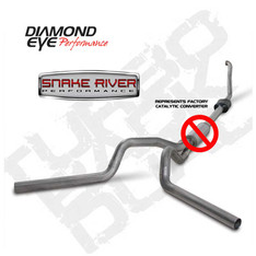 "K4308S-RP - DIAMOND EYE 4"" DUAL EXHAUST 94-97.5 FORD DIESEL STAINLESS NO MUFFLER STOCK CAT"