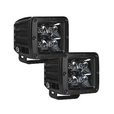 202213BLK - RIGID INDUSTRIES MIDNIGHT EDITION D-SERIES SPOT LED LIGHT PAIR BLACK - 20221BLK