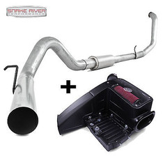 """S6200SLM  75-5062 - MBRP 4"""" TURBO BACK SS NO MUFFLER EXHAUST S&B CAI 99-03 FORD POWERSTROKE DIESEL"""