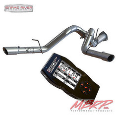 "S6251AL  7015 - MBRP 4"" DPF BACK DUAL EXHAUST SCT X4 TUNER 15-16 FORD POWERSTROKE TURBO DIESEL"