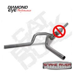 "K4236S-RP - DIAMOND EYE 4"" STAINLESS DUAL EXHAUST 04.5-07 DODGE DIESEL NO MUFFLER"