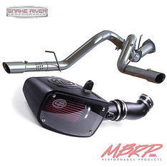 "MBRP 4"" DPF BACK DUAL EXHAUST S&B AIR INTAKE 15-16 FORD POWERSTROKE DIESEL 6.7L"