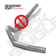 "K4122S-RP - DIAMOND EYE 4"" STEEL EXHAUST 06-07 CHEVY GMC DURAMAX DIESEL NO MUFFLER CAT BACK"