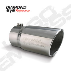 "4512BRA-DE - DIAMOND EYE EXHAUST TIP  4"" INLET 5"" OUTLET STEEL LOGO EMBOSSED 12"" LONG BOLT-ON - 4512BRA-DE"